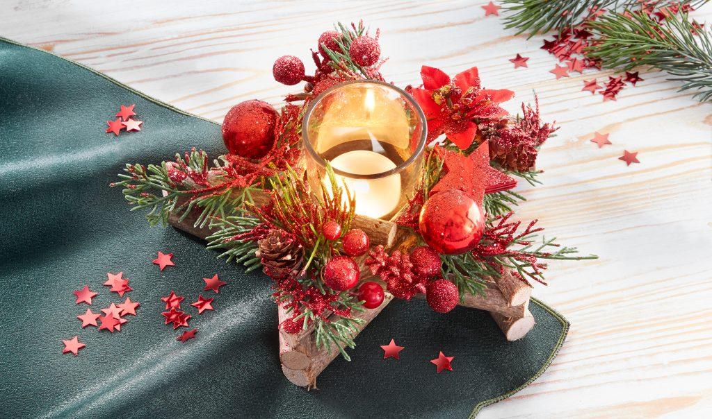 Kerzengesteck zu Weihnachten von Jungborn