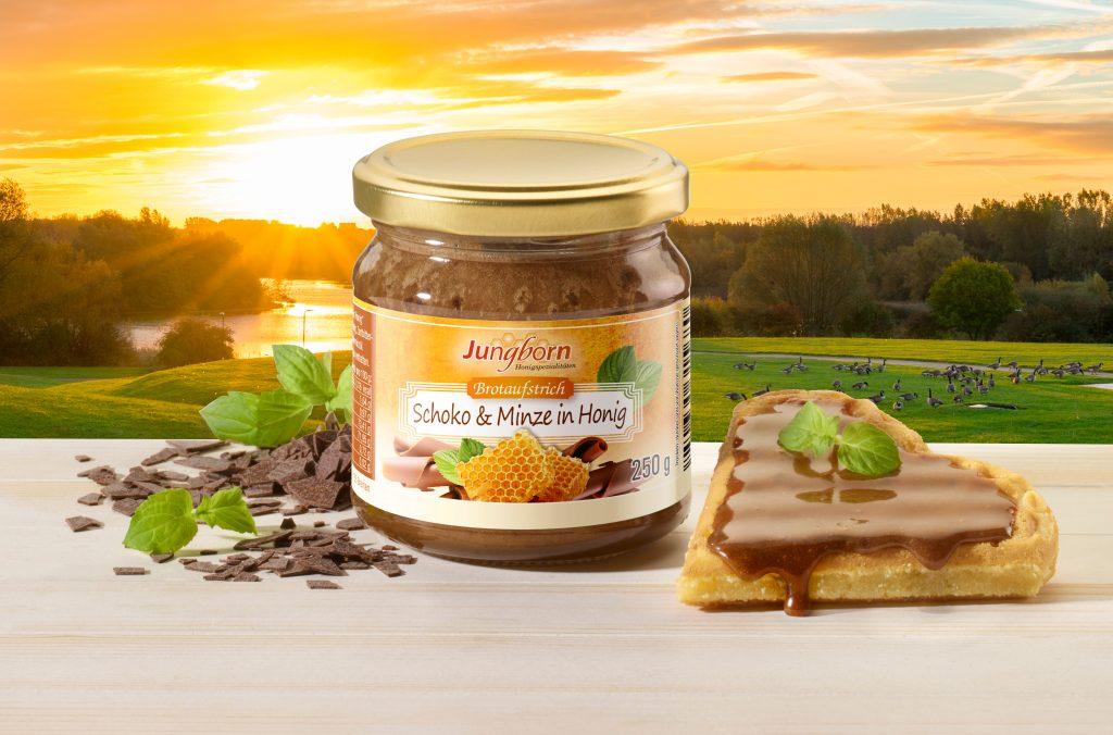 "Jungborns Brotaufstrich ""Schoko & Minze in Honig"""