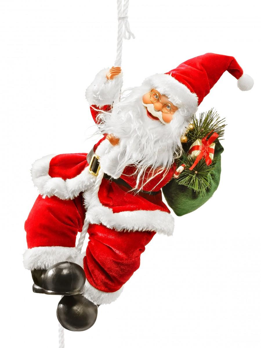 Weihnachtsdeko Klingel.Kletternder Santa
