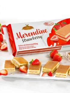 Erdbeer-Kuchenschnitten
