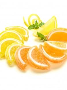 Apfelsinen & Zitronengelee-Scheiben