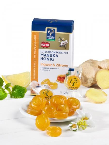 Manuka MGO™ 400+ Zitrone-Ingwer-Bonbons