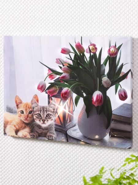 """LED-Bild """"Tulpen"""""""