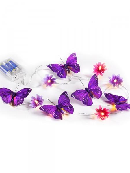LED-Schmetterlings-Lichterkette