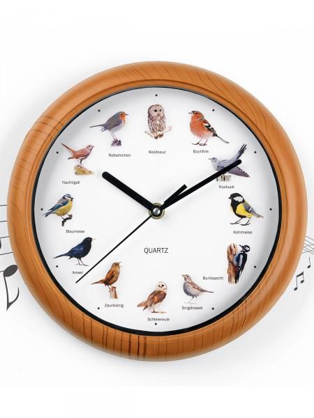 Wanduhr mit Vogelstimmen