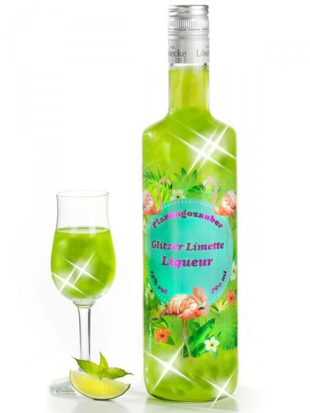 Glitzer-Limetten-Liqueur