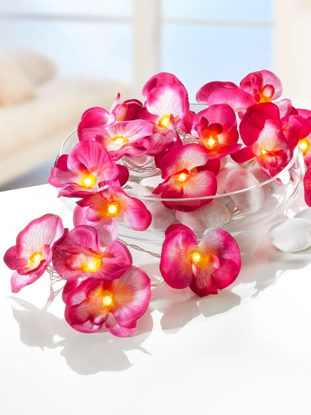 "LED-Lichterkette ""Orchideentraum"""