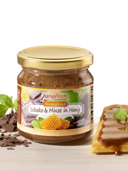 Schoko & Minze in Honig