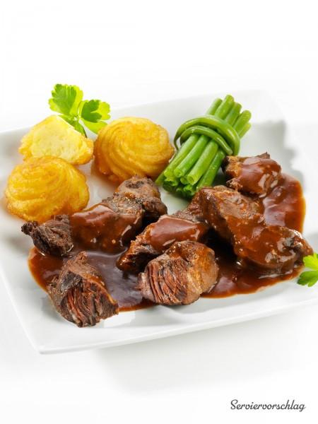 Rinderbäckchen in Rotweinsauce