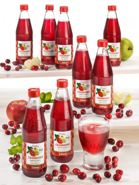 Bio-Cranberry-Apfelsaft, 8er