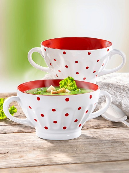 Schlemmer-Tassen, rot