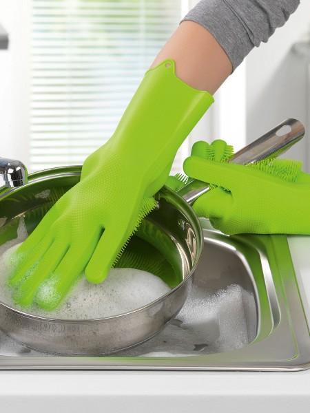 Silikonschwamm-Handschuhe