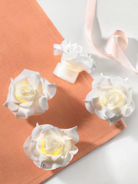 LED-Rosen-Teelichter, 4er