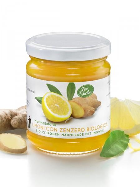Zitronenmarmelade mit Ingwer, Bio