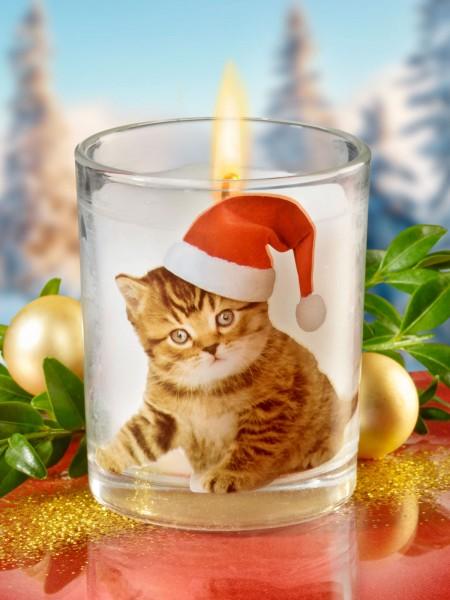 """Kerzenglas """"Kätzchen"""""""