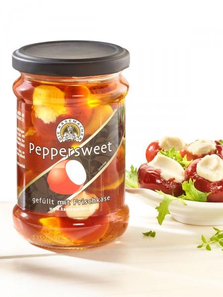 Peppersweet gefüllt mit Frischkäse