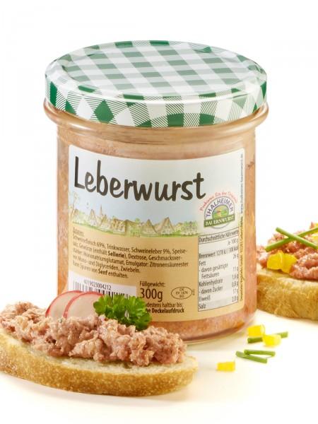 Fränkische Leberwurst im Glas