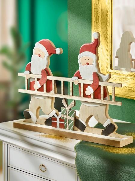 Santas mit Leiter