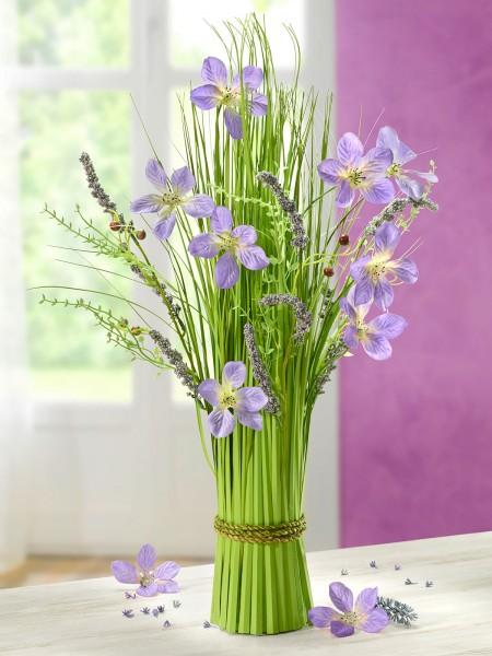 """Standstrauß """"Blaue Blüte"""""""