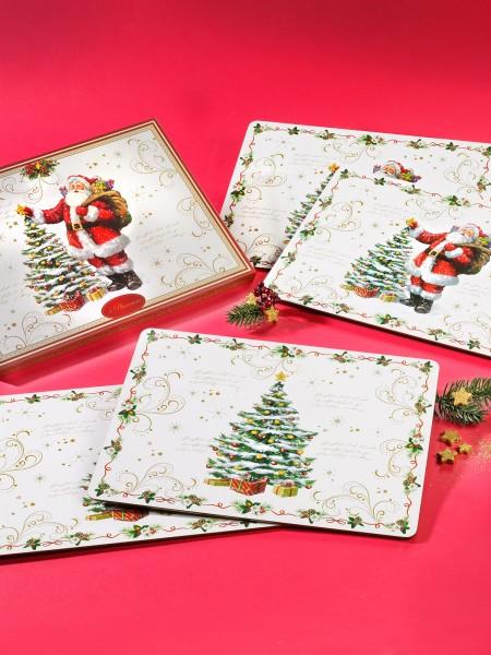 """Kork-Platzset """"Weihnacht"""", 4er"""