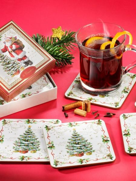 """Kork-Untersetzer """"Weihnacht"""", 6er"""