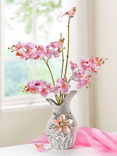 Orchideen-Glitzervase