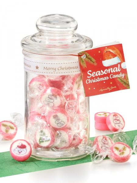 Weihnachtskaramellen-Glas