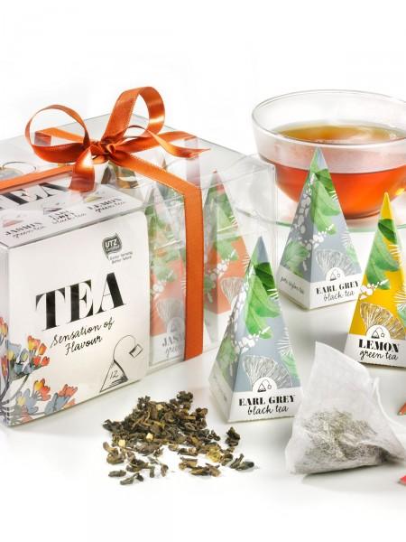Tee-Pyramiden-Box
