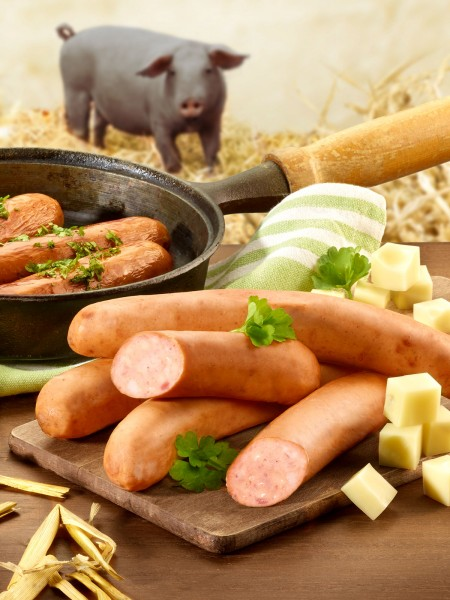 Käsekrakauer vom Moorschwein