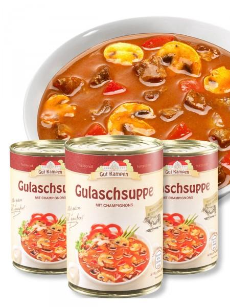 """""""3 für 2"""" Gulaschsuppe"""