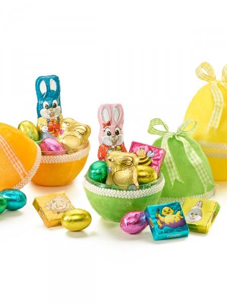 Süßes Samt-Eiertrio