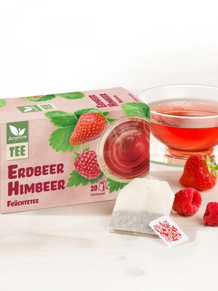 Erdbeer-Himbeer-Früchtetee