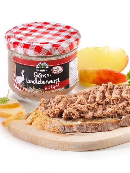Gänse-Landleberwurst mit Apfel