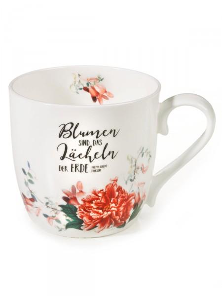 """Becher """"Blumen sind…"""""""