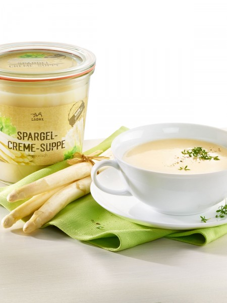 Spargel-Creme-Suppe im Weckglas