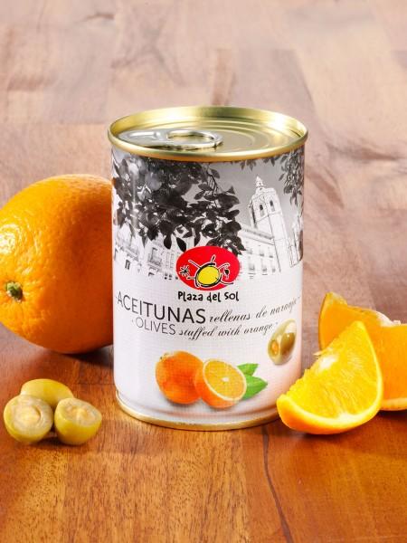 Oliven mit Orange