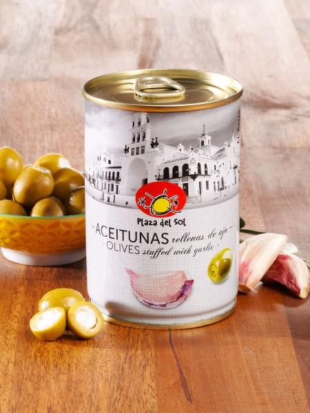 Oliven mit Knoblauch