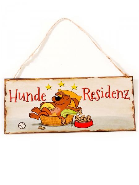 """Schild """"Hunderesidenz"""""""