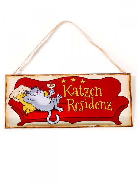 "Schild ""Katzenresidenz"""