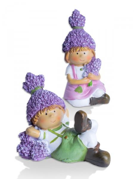 Lavendelfigur Duo