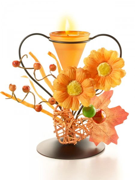 """Teelichthalter """"Herbstblüte"""""""