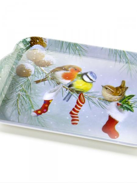 """Tablett """"Wintervögel"""""""