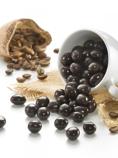 Echte Schoko-Kaffeebohnen
