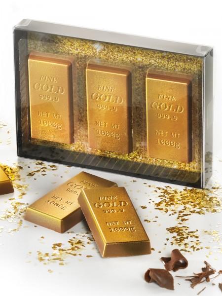 Schoko-Goldbarren