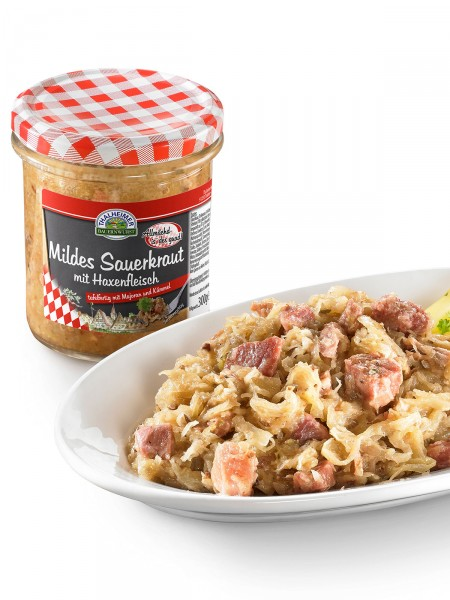 Haxenfleisch mit Sauerkraut