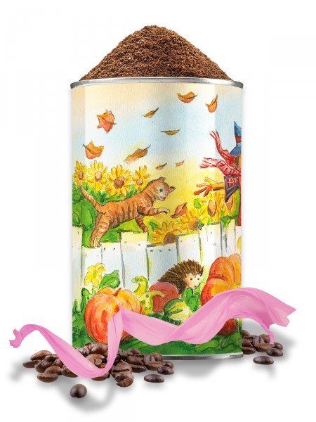 "Entkoffeinierter Kaffee, Dose ""Herbstdekor"""