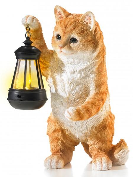 "Solarlaterne ""Katze"""