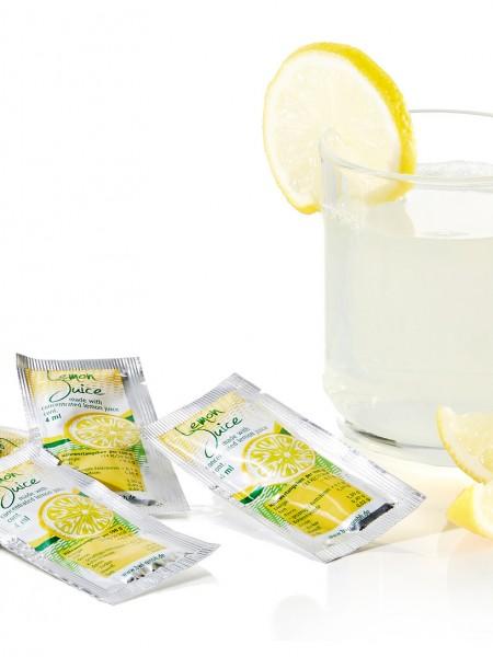 Zitronensaft-Portionen