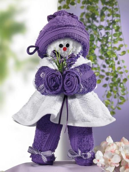 """Handtuchpuppe """"Lavendel"""""""