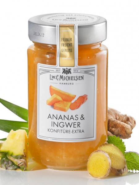 Ananas-Ingwer, Konfitüre Extra